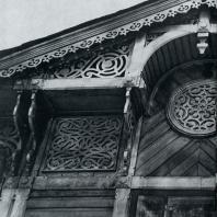 Фасад дома. Фрагмент. Томск. Улица Красноармейская, 71