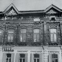 Фасад дома. Фрагмент. Томск. Улица Войкова, 21