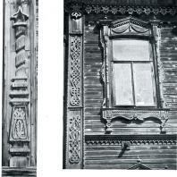 Окно и боковое обрамление фасада. Томск. Улица Гагарина, 36