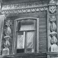 Элемент эркера с окном. Томск. Улица Татарская, 46