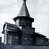 Петропавловская церковь в с. Пучуга Архангельской обл. 1698 г. Фото 1920-х гг.