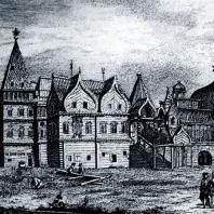 Дворец Алексея Михайловича в селе Коломенском. С гравюры XVIII века