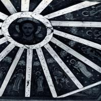 """Небо"" часовни в дер. Васильеве Роспись XVIII в. Фото А. А. Александрова"