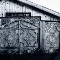 Дом П. И. Золина. Ворота и калитка. Фото Г. П. Вишневского