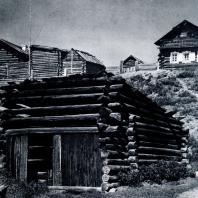 Бани в дер. Падун Иркутской обл. Фото В. В. Робинова