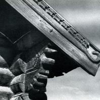 Фрагмент причелины и кронштейн дома в г. Братске. Иркутская обл. Фото В. В. Робинова