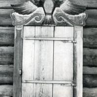 Наличник окна избы в дер. Шаманово. Иркутская обл. Фото В. В. Робинова